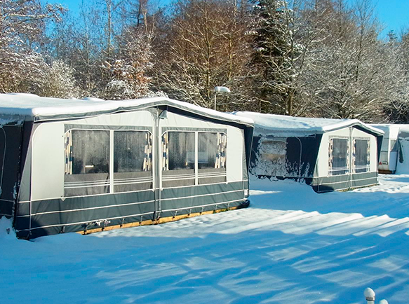vinterhi på Arrild Ferieby Camping