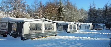 Vinterplads på campingpladsen