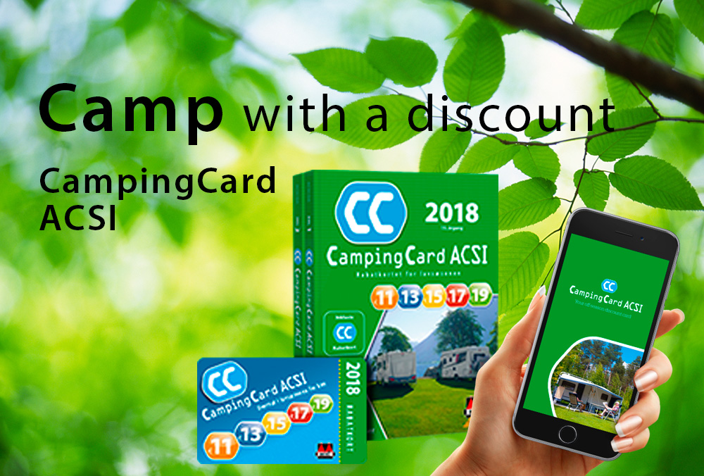 Camp with a discount with CampingCard ACSI