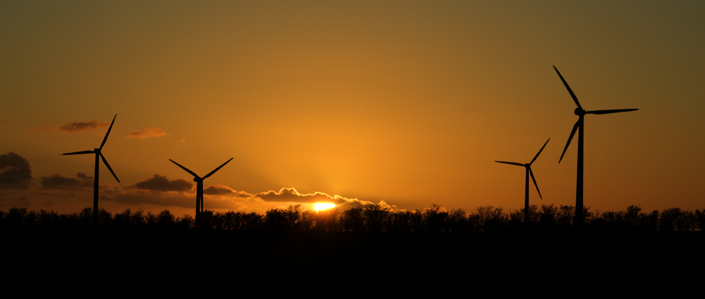 Sonnenuntergang über Arrrild